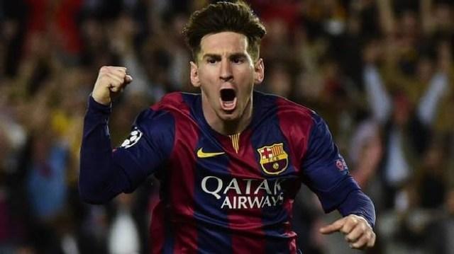 Messi célèbre son deuxième but ©PIERRE-PHILIPPE MARCOU/AFP/Getty Images