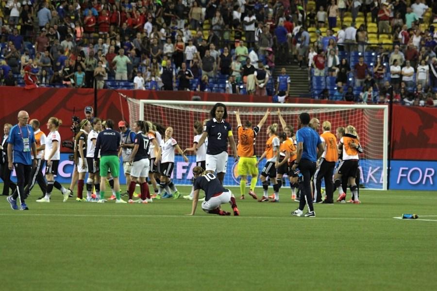 Revivez le match France v Allemagne en images