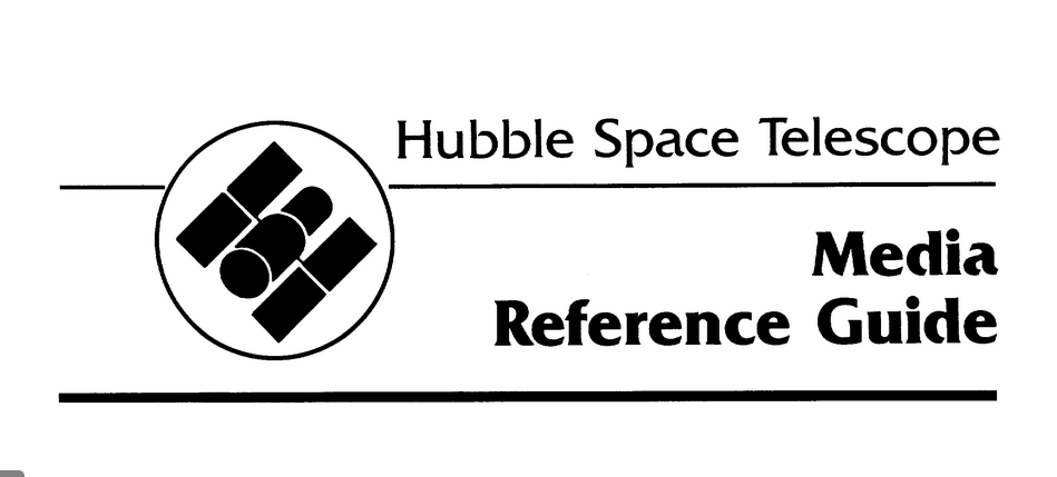 PDF. Hubble Space Telescope. Media Reference Guide