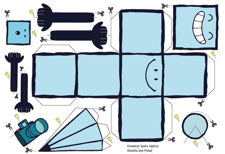 PDF. Modelos de Papel. Rosetta y Philae bastante molones