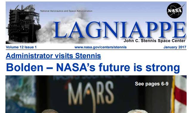 Revista. Lagniappe. Stennis Space Center. Enero 2017