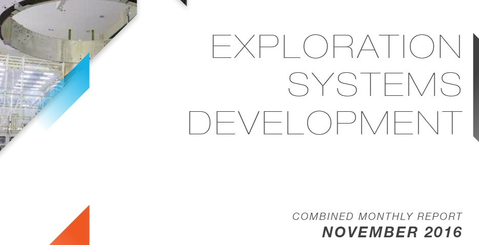 Colección. 17 PDF. Exploration System Development. Combined Monthly Report. 2016-2017