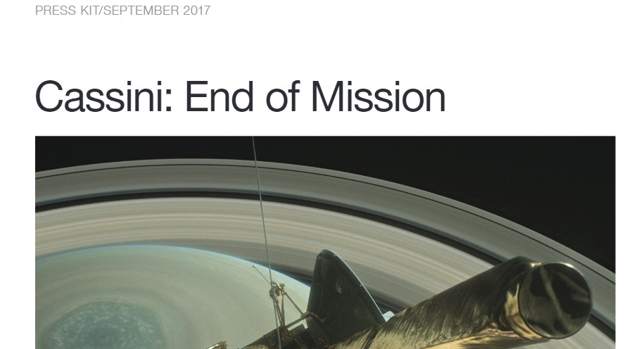 PDF. Cassini End of Mission Press Kit