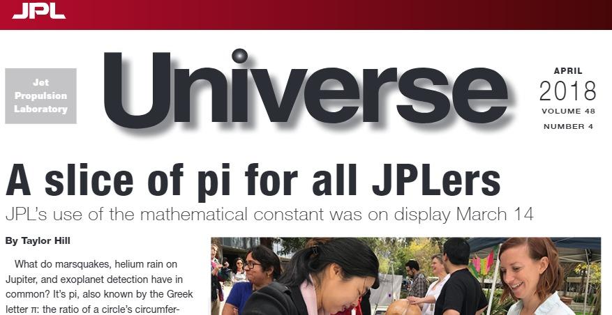 Revista. JPL Universe. Abril 2018