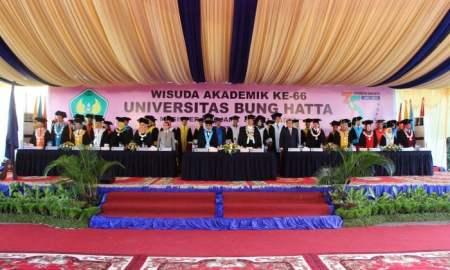 Kegiatan Wisuda ke 66 Universitas Bung Hatta. Pada wisuda periode k2 tahun 2016 ini meluluskan 1042 wisudawan/i