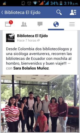 Junto al equipo de bibliotecólogas de las bibliotecas quiteñas