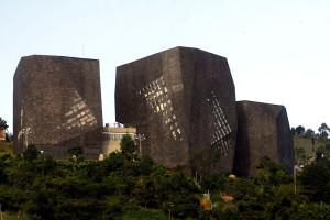 Parque Biblioteca España en la ciudad de Medellín, Colombia.