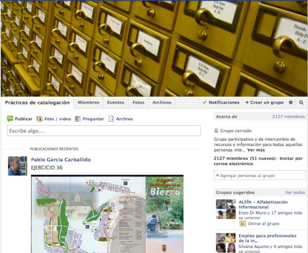 Facebook Prácticas de Catalogación
