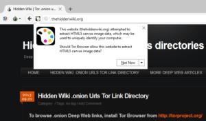 """Ante los mensajes de seguridad de Tor que no se comprendan, debe elegirse siempre la opción """"No permitir"""""""