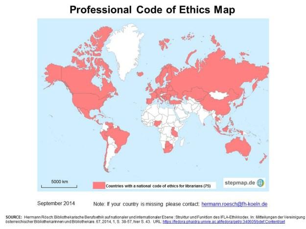 Códigos de etica para bibliotecarios 2014