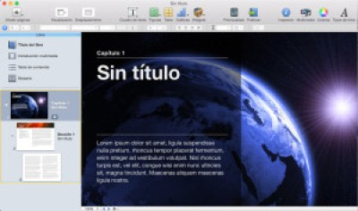 Interfaz de iBooks Author