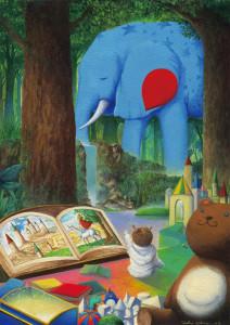 La imaginación se fomenta leyendo (ilustración de Toshio Ebine)
