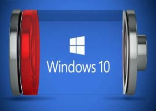 melhorar a vida útil da bateria do Notebook com o Windows 10