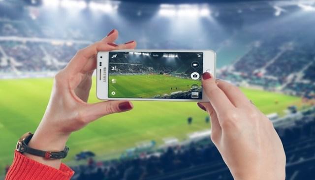 Filmando jogo com o celular