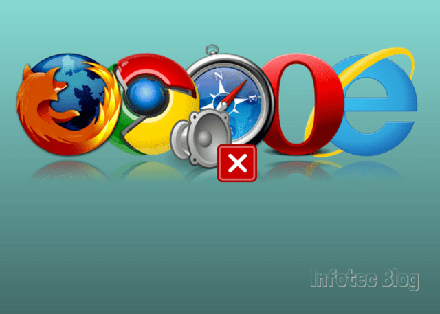 Desativar o som nas guias dos navegadores