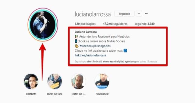 Biografia do Instagram
