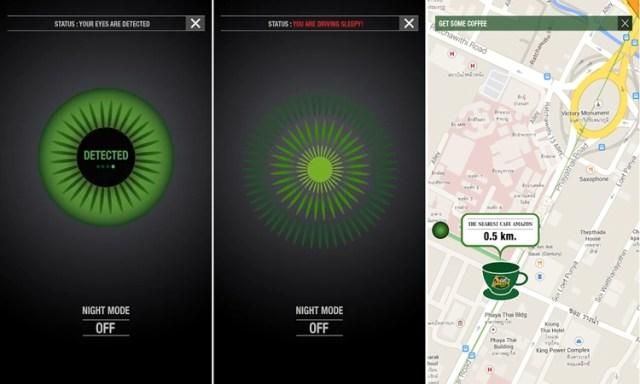 Drive Awake app para motorista