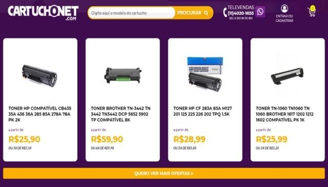 Catalogo de Produtos da Loja CartuchoNet