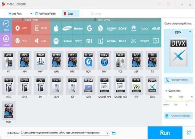 Converter vídeos com WonderFox HD-Video Converter Factory