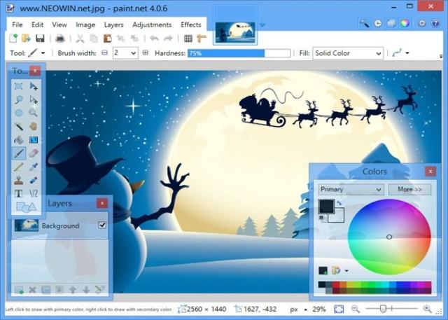 Paint.NET edição de fotos gratuito