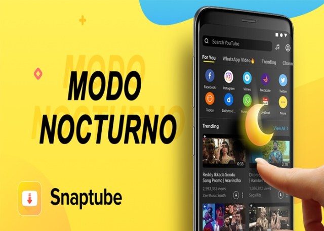 Snaptube para Android baixar video e audio