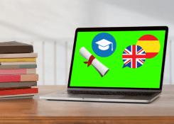 A tecnologia beneficia o aprendizado de novas línguas.
