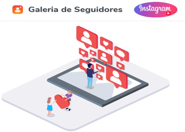 Galeria de Seguidores -melhor ferramenta para obter seguidores no Instagram