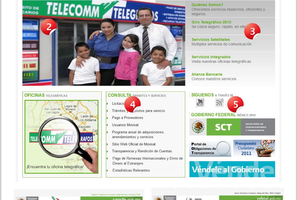 Diseño de portales: Gobierno Federal México