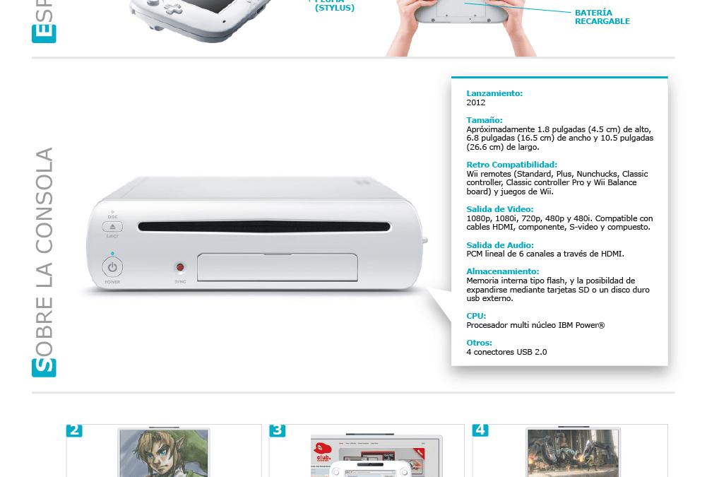 Infografías sobre productos y servicios: Consola Nintendo Wii U