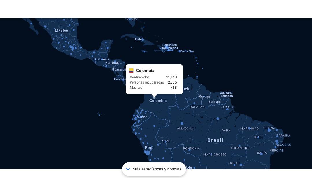 El Mapa del Coronavirus de Google