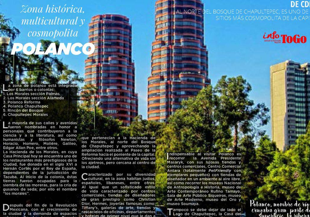 Polanco, zona histórica, multicultural y cosmopolita. 50 resturantes