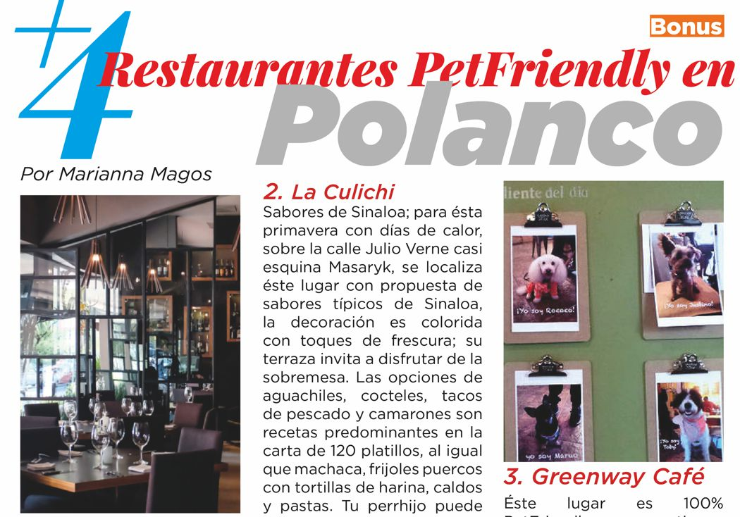 4 restaurantes PetFriendly en Polanco