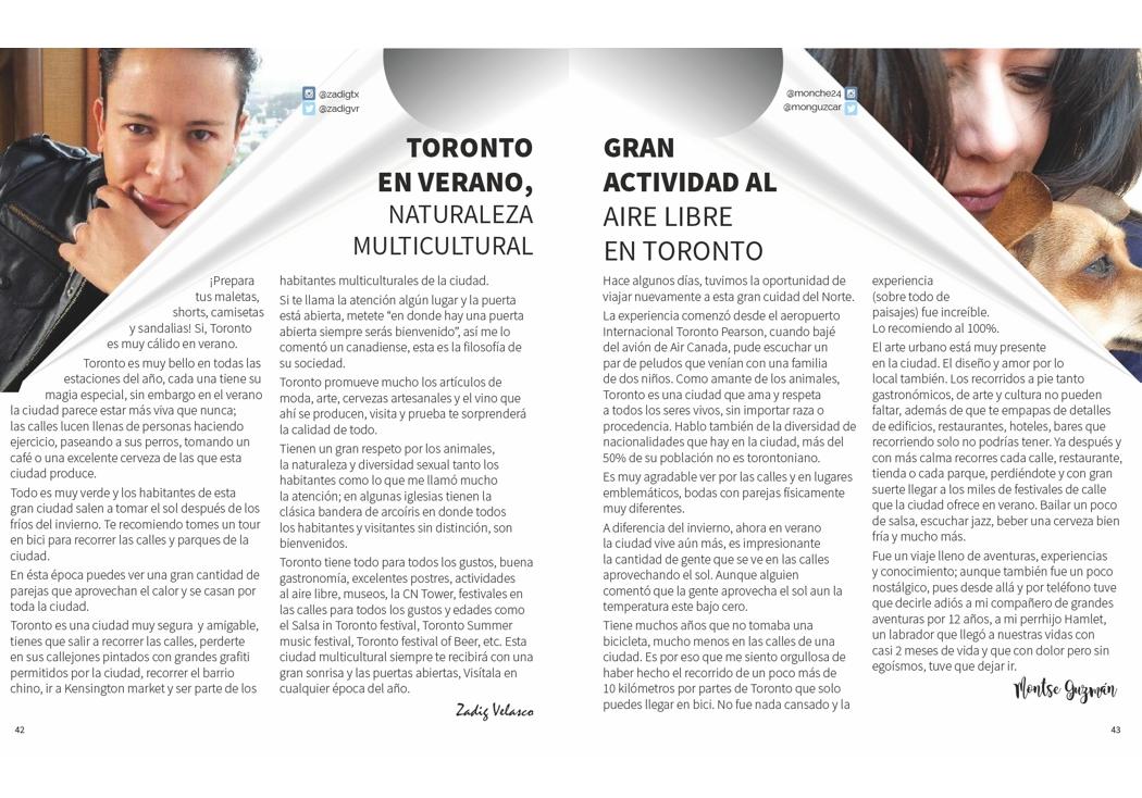 Un destino, dos puntos de vista: Toronto