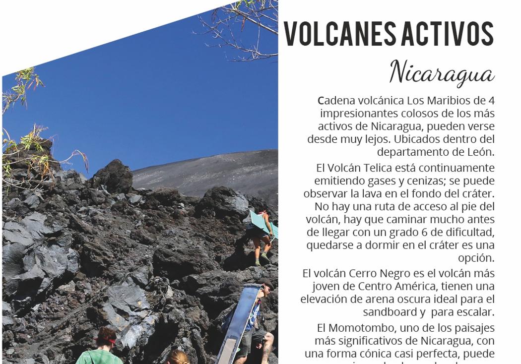 8. volcanes activos en Nicaragua
