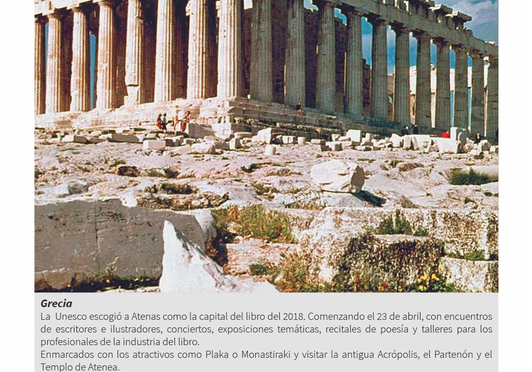 3. Atenas, Grecia: Capital del libro