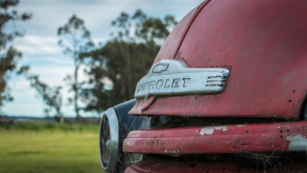 Parte delantera de un camión Chevrolet