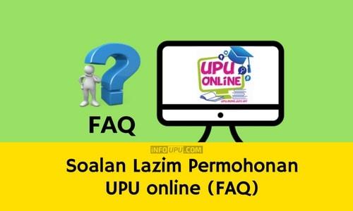 Soalan Lazim Permohonan UPU