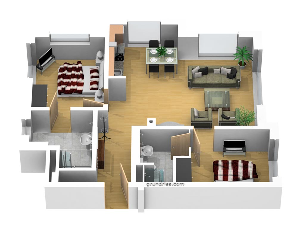 Dünenhaus Aurell - App. 1 - Grundriss
