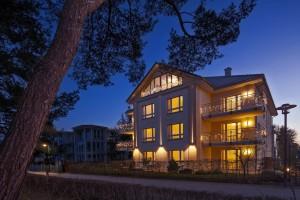Strandhaus Aurell - Nachtaufnahme von der Strandpromenade