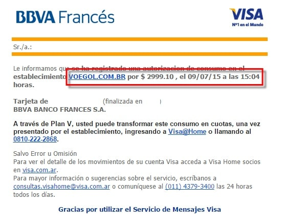 Visa - Lima 2015 tasas