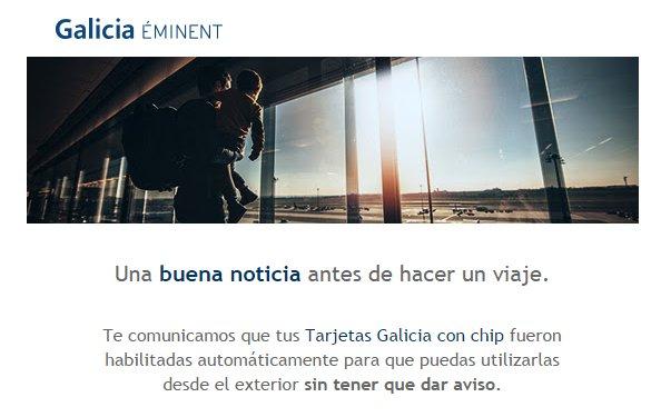 Banco galicia tarjetas credito visa Habilitar visa debito para el exterior