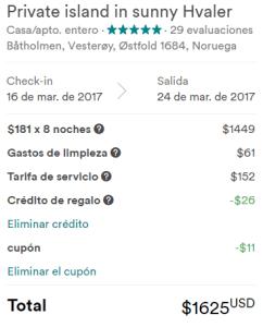 airbnb cupones para descuento