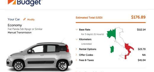 Alquilar un auto en Italia  la experiencia con Budget (sobre la marcha) f05ad11a40030
