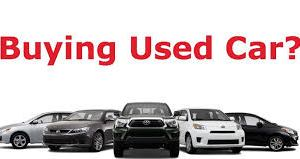 Before buying Used Cars