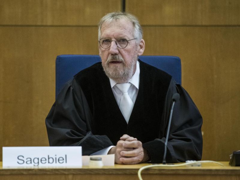 Thomas Sagebiel, Vorsitzender Richter im Lübcke-Prozess. Foto: Thomas Lohnes/Getty Images Europe/Pool/dpa