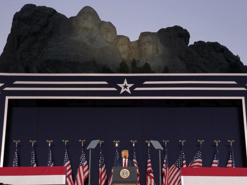 US-Präsident Donald Trump spricht zum Unabhängigkeitstag. Foto: Alex Brandon/AP/dpa