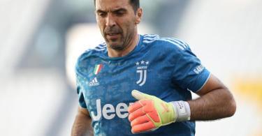 Stand im Turiner Stadt-Derby zum 648. Mal in der Serie A auf dem Platz: Juve-Legende Gianluigi Buffon. Foto: Jonathan Moscrop/CSM via ZUMA Wire/dpa