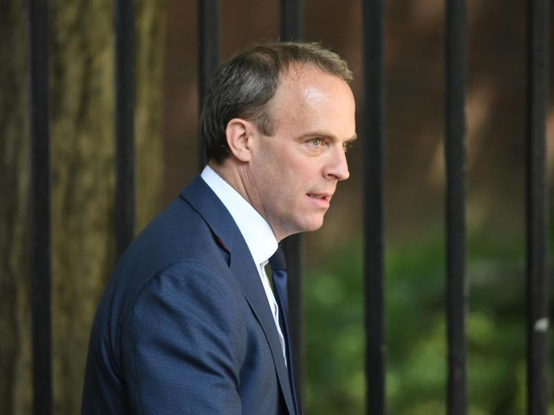 Der britische Außenminister Dominic Raab verurteilte die angeblichen Cyber-Attacken. Foto: Stefan Rousseau/PA Wire/dpa