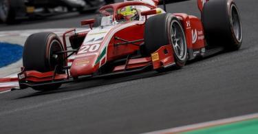 Mick Schumacher fuhr zum ersten Mal in dieser Saison aufs Podest. Foto: James Gasperotti/ZUMA Wire/dpa