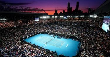 Der Center Court der Australian Open in Melbourne. Foto: Dave Hunt/AAP/dpa